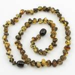 """The Original Art of CureTM *SAFETY KNOTTED* Green – Baltic Amber Baby teething Necklace – w/""""The Art of Cure"""" Jewelry Pouch-TM, Baby & Kids Zone"""