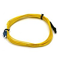 Monoprice 103649 3-Meters MTRJ (Male)/LC Single Mode Duplex Fiber Optic Cable - Yellow