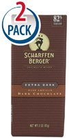 Scharffen Berger Chocolate Bar, Extra Dark, 82% Cacao, 3-Ounce bars (Pack Of 2)