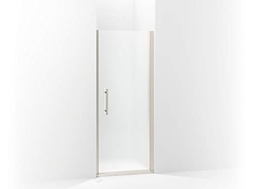 Sterling 5698-31N-G03 Finesse Peak Frameless Pivot Shower Door with Frosted Glass, 31.5-in W x 67-in H, Nickel
