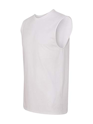 (Jerzees Men's Advance Performance Sleeveless T-Shirt, White, Large)