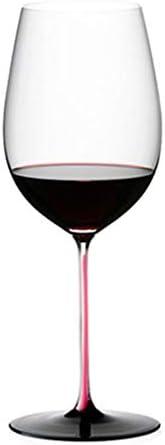 ZKHD Corbata Rosa Borgoña Vino de Vino Burdeos Vino Copa de Vino Cristal Master Hecho a Mano Importaciones austriacos,860ml / 30oz Bordeaux Cup
