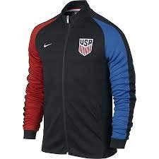Nike Mens Knit Vest - Nike N98 USA Authentic Track Soccer Jacket (Medium) Black