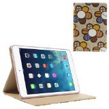 JUJEO Colorized Sunflowers Stand Leather Smart Cover for iPad Mini/iPad Mini 2 with Retina Display - Beige (IPADM2-278D)