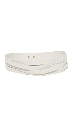 B-Low The Belt Women's Nikki Belt, Pearl/Gold, Large by B-Low the Belt