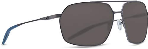 Costa Pilothouse Two Tone Titanium Frame Grey Lens Men's Sunglasses ()