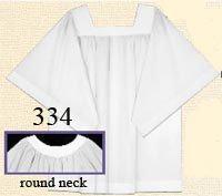 Abbey 334-XLG Round Yoke Surplice Size: x-largeFront Wrap Alb, -