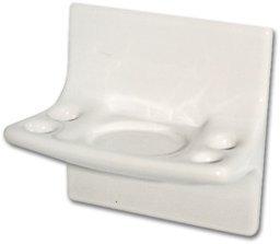 Ceramic Wall Toothbrush Holder (Ceramic Toothbrush Holder - White)