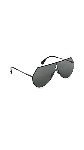 Fendi Women's Shield Aviator Sunglasses, Black/Grey Blue, One - Fendi Sunglasses Black