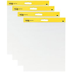 Post-it Super Sticky Wall Easel Pad, 20 x 23 Inches, 20 Sheets/Pad, 2 Pads (566), Portable White Premium Self Stick Flip Chart Paper, Rolls for Portability, Hangs with Command Strips (Self 566 Stick Wall)