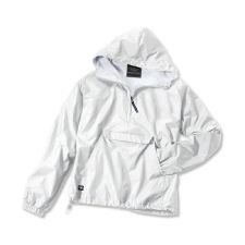 Charles River Apparel The Classic Collection Classic Solid Nylon Pullover Jacket from White by Charles River Apparel