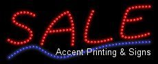 LED Open Sign On/off with Chain High Visible Bright Colors Led Moving Flashing Animated Neon Sign Motion Light 19x10 (Sale)