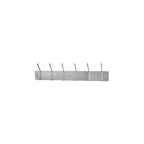 Ex-Cell Kaiser 700 SA Aluminum Wall Mounted Rack with 6 Double Hook, 36