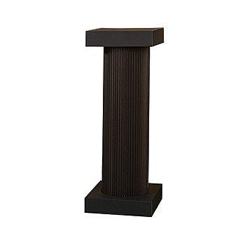 4u0027 Black Fluted Pedestal