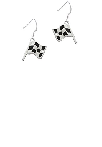 Checkered Race Flag - French Earrings