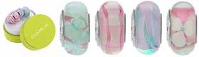 Authentic Chamilia Murano Glass Cotton Candy Bead Set Sterling Silver OG-1