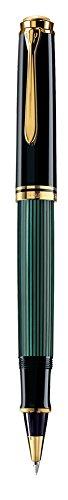 (Pelikan Souveran 400 Black/Green GT Rollerball Pen - 997494 )