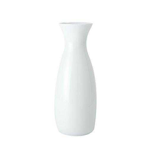 BRT Ceramic High White Porcelain Water Bottle Flower Vase (26x8cm)