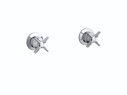 Kohler K-T7744-3-CP Triton Two-Handle Wall-Mount Valve Trim, Polished Chrome C-spout Two Handle