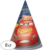 Cars 3 Birthday Cars 3 Party Cone Hats 8 count
