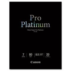 * Photo Paper Pro Platinum, High Gloss, 8-1/2 x 11, 80 lb., White, 20 Sheets/Pack