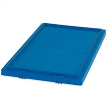 Stack & Nest Lids, 26 5/8'' x 18 1/4'' Blue - [PRICE is per CASE] by Box Partners