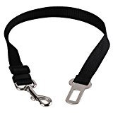 CJESLNA Car Vehicle Auto Safety Seat Belt for Dog Pet (7 Color) (Black)
