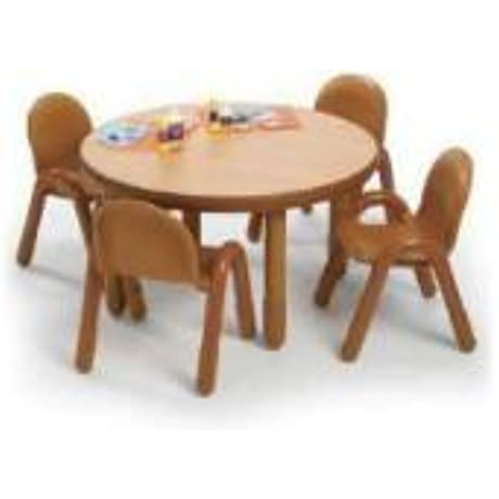 Angeles Preschool Table Chair Set CANDY APPLE RED