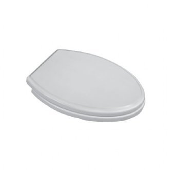 15.110.020 Town Square Luxury Round Front Toilet Seat, White (Round Front Water Closet)