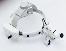 Dental Surgical Medical 2.5X420mm Adjustable Headband Loupe with LED Headlight DY-105 White by Sololife (Image #4)