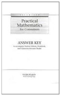 PACEMAKER PRACTICAL MATH ANSWER KEY 2004 (Fearon Practical Math for Consumers)