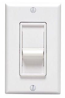 (Leviton 06672-C22-1LW Residential Grade Incandescent SureSlide Dimmer, White )