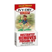 Ivy-dry Soap. Instantly Removes Poison-ivy, Oak and Sumac. 3 Bars of Soap (0.7 Oz Each)