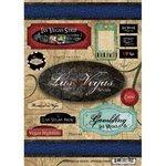 Las Vegas Cardstock Stickers - Scrapbook Customs World Collection USA Cardstock Stickers Travel Las Vegas