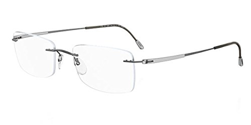 03b3e02f4f3 Image Unavailable. Image not available for. Color  Silhouette Unisex-Adult  54 mm Grey Frame Transparent Lens Prescription Glasses
