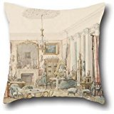 (Oil Painting Dominique Hagen - An Interior In Moscow Throw Pillow Case 18 X 18 Inches / 45 By 45 Cm For Family,girls,lounge,drawing Room,outdoor,kids With Each Side)