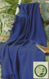 "Cobalt Blue Eco2Cotton Afghan Throw Blanket 50"" x 60"""