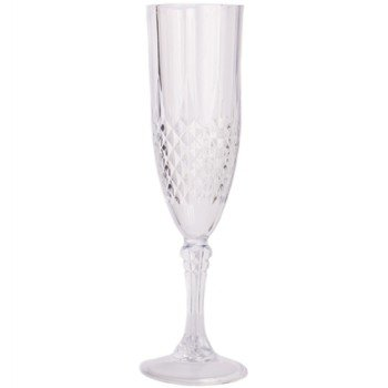 Simcha Crystal-Like 1 Piece Plastic Champagne Glasses 5 oz (Pack of 4) ()