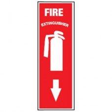 Extintor ubicación - Señal de 4 x 12 (vinilo): Amazon.es ...