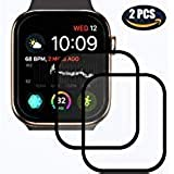 Screen Protector for Apple Watch Series 4 44mm, LYNOON iWatch Full Coverage Protective Tempered Glass