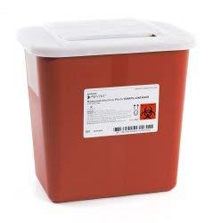 Sharps Container, McKesson Prevent, 10-1/4 H X 7 W X 10-1/2 D Inch 2 Gallon Red, 047 - Case of 20 by McKesson Prevent