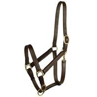 - GATSBY LEATHER COMPANY 282995 Stable Halter with Snap Havanna Brown, Large Horse