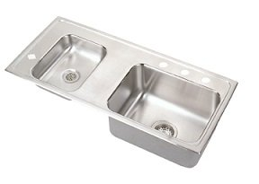 Elkay DRKR3717L Lustertone Classroom Sink, Double Bowl, Sink Only