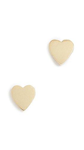 Jennifer Meyer Jewelry Women's 18k Gold Heart Stud Earrings, Gold, One Size ()