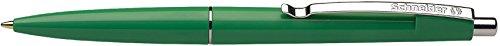 Schneider Office Ballpoint Pen Click-Top Pen M Tip Green, the colour of barrel: Green Schneider Top Ball