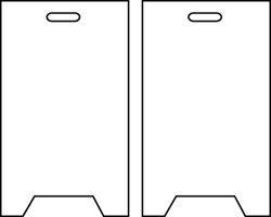 4 Side Floor Sign - 6