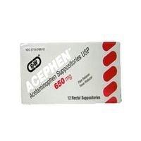 Acephen Acetaminophen Suppositories - Acephen acetaminophen rectal suppositories usp 650 mg by G and W labs - 12 Ea/box by G & W LABORATORIES.