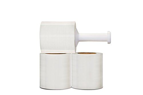 Stretch Wrap Film 5'' x 1500' x 80 ga Cast Narrow Banding 12 Rolls + 1 Plastic Handle by PackagingSuppliesByMail