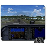FSX landing in St. Maarten with C-172 - G1000 Mouse Pad, Mousepad (10.2 x8.3 x 0.12 inches)