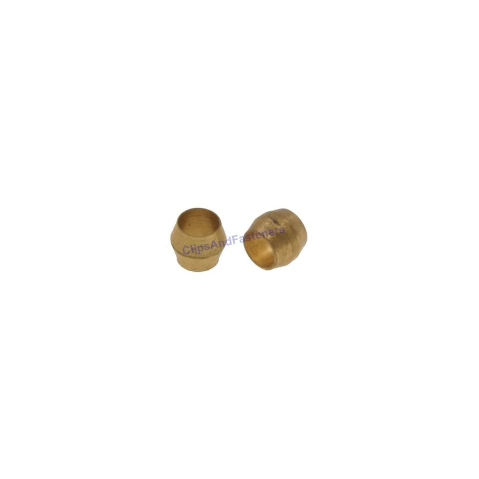 25 Brass Compression Fitting Sleeves 3/16